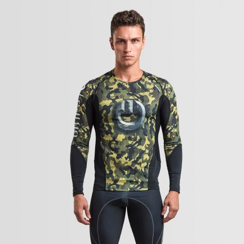 MEN'S ARMADURA 2.0 RASH GUARD WOODLAND CAMO LONG SLEEVES