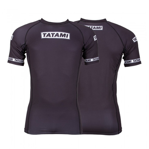 타타미 래쉬가드 - Dweller Short Sleeve Rash Guard Black