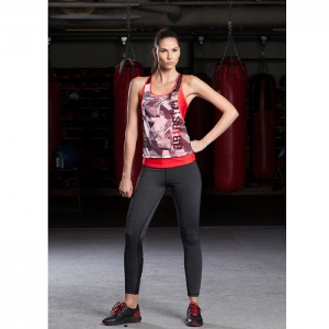 LADIES DUAL LAYER TANK TOP / RED - ATHLETICA