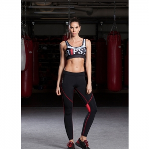 LADIES X-STRAP SPORTS BRA / BLACK - ATHLETICA
