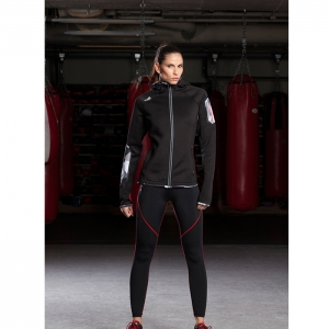 LADIES THERMAL HOODIE / BLACK - ATHLETICA
