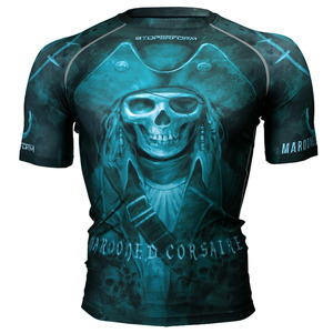 MAROONED CORSAIRE [FX-312] Full graphic compression short sleeve shirt