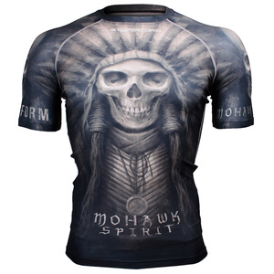MOHAWK SPIRIT -Black [FX-302K] Full graphic compression short sleeve shirt