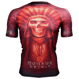 MOHAWK SPIRIT -Red [FX-302R] Full graphic compression short sleeve shirt