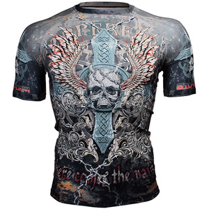 SKULL CROSS [FX-306] Full graphic compression short sleeve shirt