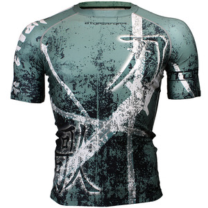 SONG OF SWORD [FX-316G] Full graphic compression short sleeve shirt