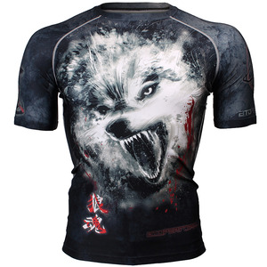 WOLF SPIRIT [FX-310] Full graphic compression short sleeve shirt