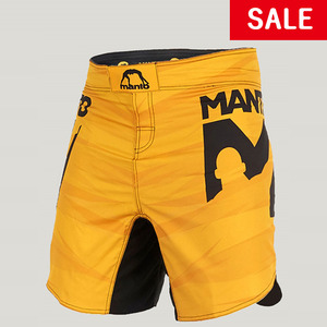 MANTO fight shorts DUAL yellow (오염10%할인)