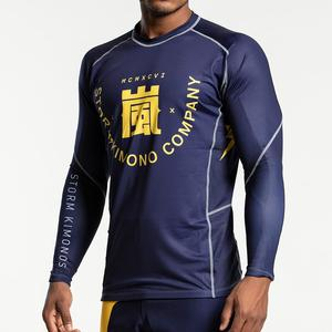 스톰 래쉬가드 -Storm 'Kanji' Long Sleeve Rash Guard - Navy/Gold