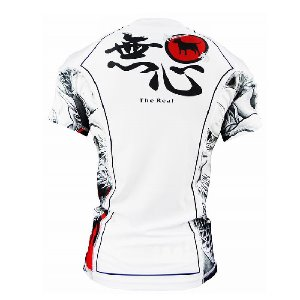 불테리어 래쉬가드 - BULLTERRIER Rash Guard MUSHIN 3.0 Short Sleeve White