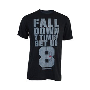 MEN'S GET UP TEE SHIRT - BLACK