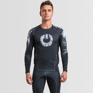 MEN'S ARMADURA 2.0 RASH GUARD SKULL BLACK LONG SLEEVES