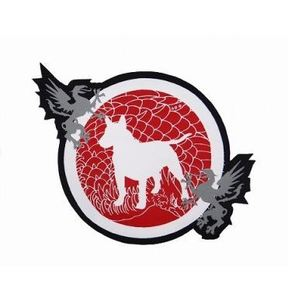 불테리어 패치 - BULLTERRIER Embroidery patch Die cut Houou